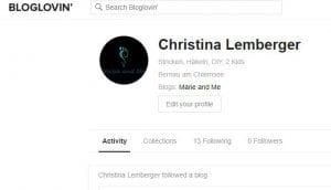 Bloglovin Profil