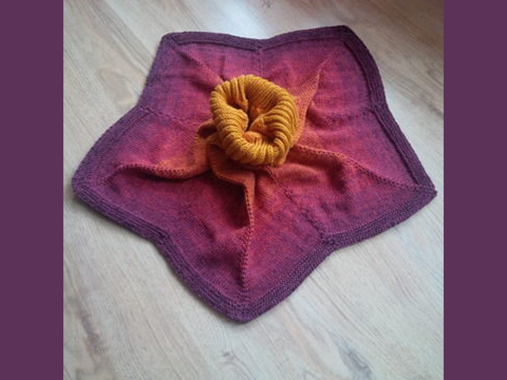 Asteria - Sternponcho gestrickt