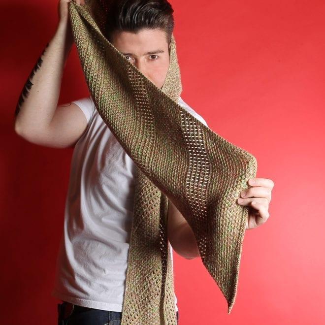 Voll Schräg - Schal gestrickt